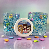 "Stretchy Clear SLIME ""Butterfly Fiesta"" SCENTED Rainbow Blue Glitter 2 4 6 8 oz"