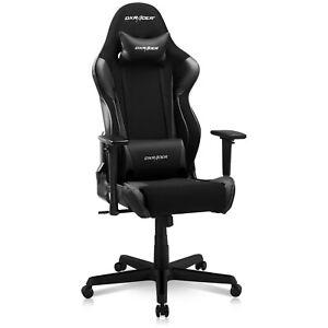 DXRacer Racing Series Ergonomic Gaming Home Office Chair, Black (Open Box)