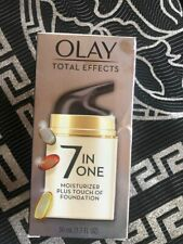 Olay Total Effects 7 in One Face Moisturizer + Touch of Foundation 1.7 oz New