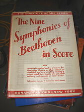 The Nine Symphonies of Beethoven in Score 1935 Hardcover  w/Dust Cover