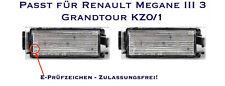 LED SMD Kennzeichenbeleuchtung Renault Megane III SchräGheck BZ0 (06)