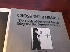 1983 VINTAGE 4 PAGE PRINT ARTICLE THE LORDS OF THE NEW CHURCH BAD NEWS AMERICA