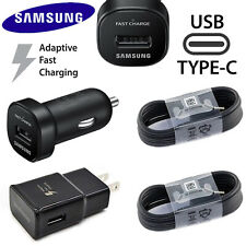OEM Samsung Galaxy Note 8 S8 S9 S10 Plus Fast Car Wall Charger 4FT Type-C Cable