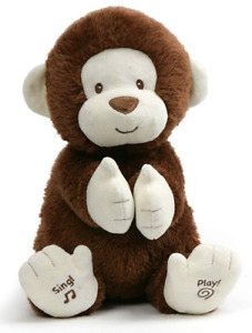 NEW GUND Clappy the Monkey Sing Play Animated Soft Toy Cute Plush Baby Kids Gift