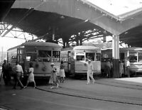 "1939 Streetcars, Oklahoma City, Oklahoma Vintage Photograph 8.5"" x 11"" Reprint"