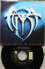 Rock Picture Sleeve Promo 45 Michael Thompson Band - Give Love A Chance / Give L