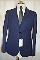HARDY AMIES ~HEDDON FIT~NAVY DE-CONSTRUCTED ITALIAN HOPSACK SPORTS JACKET UK 38R
