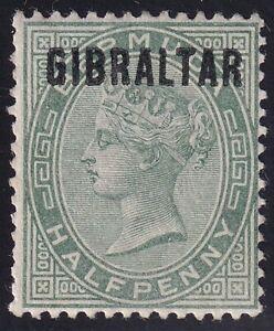 UK STAMP Gibraltar  1886 Queen Victoria, 1819-1901 - Bermuda Stamps Ovpt MH/OG