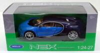 Welly 1/24 Scale Diecast  24077W - Bugatti Chiron - Black Blue