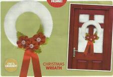 KNITTING  PATTERN - Christmas Wreath   Xmas Decoration            (w/door)