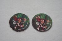 Lot 2 Jetons DONKEY KONG NINTENDO KELLOGG'S (Caps/Tazo/Paddles/Comic Shell/pog)