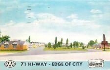 Fort Smith Arkansas 1959 Terry's Motor Court MWM postcard 5987 roadside
