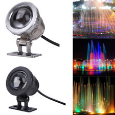 10W 12V RGB LED Underwater Spot Light LED Waterproof Pond Fountain Aquarium Lamp