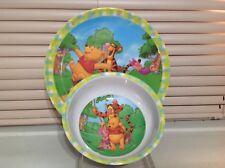 Winnie The Pooh, Tigger, & Piglet Bowl & Plate Zak Designs