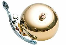 Crane Bell Suzu Brass Bicycle Bell with Steel Band Mount Gold 55mm Diameter