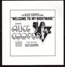 Alice Cooper - 1975 - original handbill (w/ Suzi Quatro)