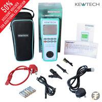 Kewtech SMARTPAT battery operated PAT Tester and 230V / 110V Run Leakage Test