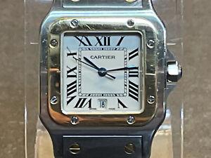 Cartier Santos Galbee 18k Yellow Gold & Stainless Steel 29mm Quartz Watch 1566