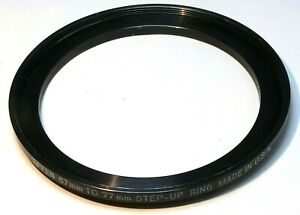 TIFFEN  67mm to 77mm filter  ring Metal adapter threaded step-up wide angle