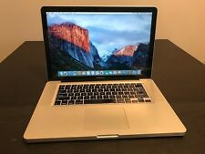 """Apple MacBook Pro A1286 15.4"""" Mid 2009 Core 2 Duo T9900 3.06GHz 8GB 500GB"""