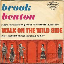 "BROOK BENTON ""WALK ON THE WILD SIDE"" POP SOUL SP 1962 MERCURY 71925"