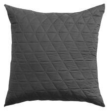 Bianca Vivid Coordinates Charcoal Quilted European Pillowcase RRP $34.95