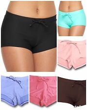 SO Juniors Size XS Small Pink Dark Brown Boyshort Swim Bikini Bottoms NEW