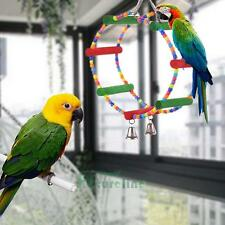 Arch Swing Bird Toy Parrot Harness Rings Toys Parakeet Cockatiel Budgie