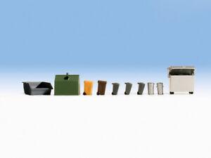 Waste Container & Dustbins - OO/HO figures set Noch N14825 -