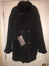 New  Italian Shearling Sheepskin  Fur Coat/Jacket Lightweight /Collar