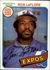 1980 Burger King Pitch/Hit/Run #27 Ron LeFlore * - NM-MT