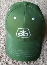 NEW DUPONT PIONEER SEED LOGO FARMER HAT CAP DARK GREEN STRUCTURED BASEBALL
