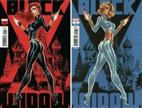 Marvel Black Widow #1 #2 Comic Book Set J.Scott Campbell Variant Natasha NM
