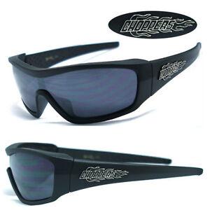 Choppers Mens Motorcycle Sunglasses - Matte Black C40