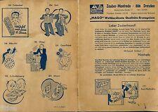 Manfred Gottschalt Zauber Manfredo Dresden Verkaufskatalog Tricks MAGO 1965