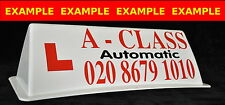 Magnetic Car Roof Sign with Graphics +Text - 2 Colour (Driving School Supplies)
