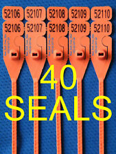 "SECURITY SEALS, ""ZIP-STYLE"" with RECEIPT, EASY NO-TOOL REMOVAL, BRIGHT ORANGE"