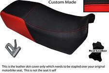 BRIGHT RED & BLACK CUSTOM FITS KAWASAKI GPZ 900 84-96 DUAL LEATHER SEAT COVER