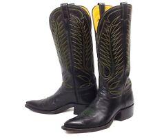 Classic Vintage Olsen Stelzer Cowboy Boots Men Sz 8.5D Tall Heel X Toe Pointy
