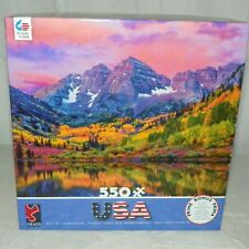 Ceaco Jigsaw Puzzle Maroon Bells Aspen Colorado 550 Pieces NEW