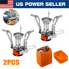 2 Portable Camping Stoves Backpacking Stove with Piezo Ignition Adjustable Valve photo