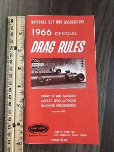 VINTAGE 1966 NHRA OFFICIAL DRAG RULES BOOK