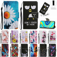 For Samsung Note 20 Ultra S20 FE S21 Painted Wallet Flip Leather Stand Case Skin