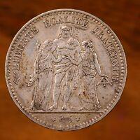 Raw 1875 A France 5 Francs