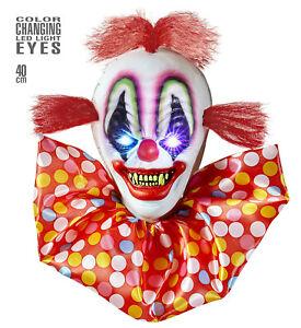 Horror Pagliaccio Con Blinkenden E Farbwechselnden LED Occhi 40 CM Halloween