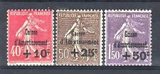 """FRANCE STAMP TIMBRE N° 266/68 """" SEMEUSE 4ème SERIE C.A.1930 """" NEUF xx LUXE P631B"""