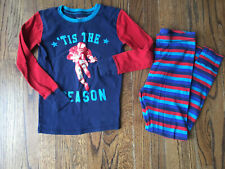 EUC Gap Kid's Boy's Football Long John Pajamas Set 10