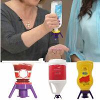 4 Pcs Flip Toss It Bottle Economy Cap Stand Kit Liquid Dispenser System