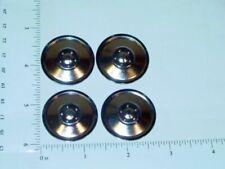 Set of 4 Zinc Plated Tonka Solid Hubcap Toy Parts TKP-003