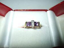 Genuine 2.00 cttw Amethyst Diamond Ring 14K yellow gold NWT $900